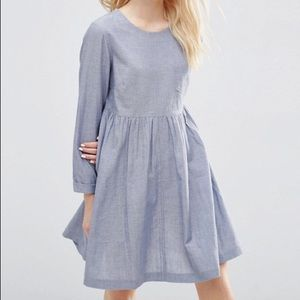 New without tags ASOS long sleeve chambray dress